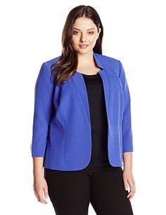 Kasper Women's Plus-Size Inverted Notch Collar Jacket, Pe... http://www.amazon.com/dp/B017G0L32U/ref=cm_sw_r_pi_dp_TO9lxb159YFWF
