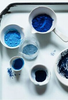 Indigo powders. Ooh, I'd love to experiment dying with these