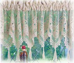 crochet curtains | CROCHET LACE CURTAINS « Blinds, Shades, Curtains