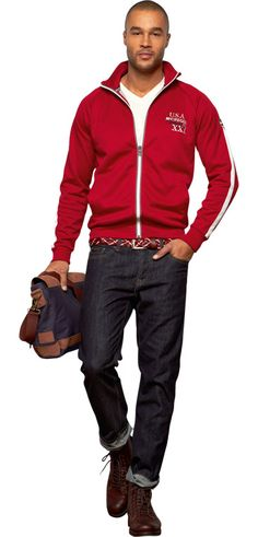 Why it doesn't work: This type of zip-up is too casual for the workplace. Jeans are not permitted.