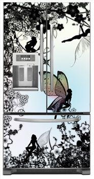 Elegant Gossamer Fairy French Door Refrigerator Vinyl/magnetic Cover