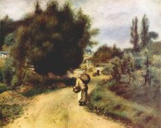 Oil painting reproduction: Pierre Auguste Renoir On The River Banks 1907 - Artisoo.com