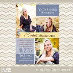 Senior Mini Session  Photography Marketing by ClickChicksDesigns, $8.00