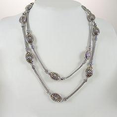 John Hardy Jaisalmer Silver & 18k Gold Station Necklace tyE7udHk