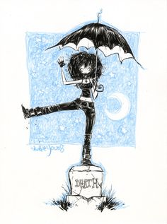 Death of the Endless from Neil Gaiman's Sandman series. Art by Skottie Young #skottieyoung