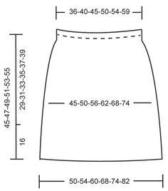 """Valeria Del Mar - Falda de ganchillo DROPS con patrón de abanicos en """"Cotton Viscose"""" Talla: S - XXXL. - Free pattern by DROPS Design"""