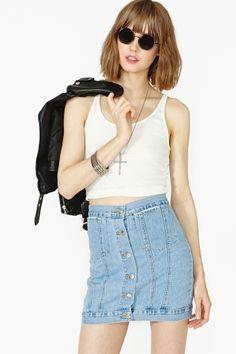 Tracey Denim Skirt