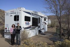 """You wouldn't normally think of a 5th wheel trailer as a tiny house, but when I was invited over to Matt and Kathleen's Forest River Cardinal trailer which is parked behind a friend's home, I was astounded at how cozy and """"house-like"""" it felt. The couple, who downsized from their home in Seattle to this …"""