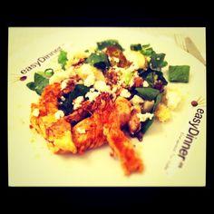 Pollo con Couscous, Pera y Queso de Cabra