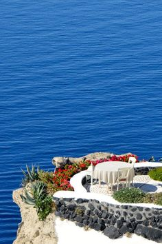Caldera Terrace in Oia, Santorini,Greece
