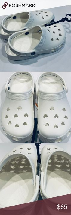 white mickey mouse crocs Online