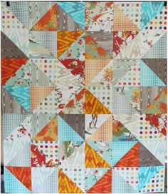 Easy Quilt Top Tutorial with a Layer Cake  