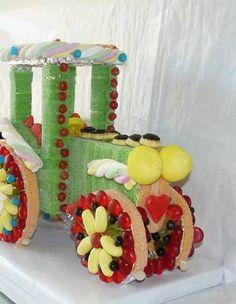 tracteur en bonbon