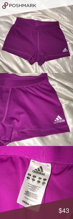 Adidas Neon Purple Spandex Volleyball Shorts Perfect condition! Message me with any questions! Happy Shopping! adidas Shorts