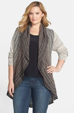 Free shipping and returns on NIC+ZOE 'Cossack' Cardigan (Plus Size) at Nordstrom.com. An oval shape that sweeps from a wide shawl collar to a ruffled hem creates graceful lines for a cozy cardigan beautifully patterned in sophisticated neutral shades.