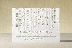 WILLOW TREE Letterpress Wedding Invitations by community designers at minted.com