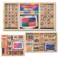 Melissa & Doug Deluxe Stamp Bundle: Alphabet, Friendship, and Animal Sets Melissa & Doug