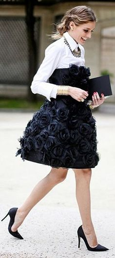 Black Applique Flowers