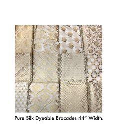 Black Pakistani Dress, Pakistani Dress Design, Pakistani Dresses, Off White Saree, Pure Georgette Sarees, White Silk Blouse, Fancy Blouse Designs, Fabric Names, Silk Brocade