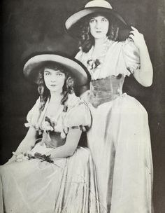 """Lillian and Dorothy Gish in """"Orphans of the Storm"""" Silent Screen Stars, Silent Film Stars, Movie Stars, Old Hollywood Glamour, Vintage Hollywood, Classic Hollywood, Hollywood Icons, Hollywood Actresses, Dorothy Gish"""