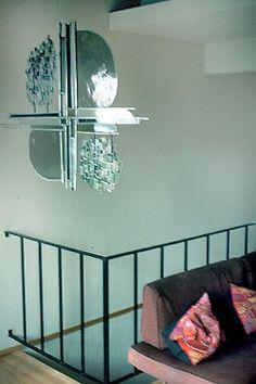 Glass sculpture for Berkeley residence of Cecile McCann, Publisher of Artweek.  © Kristin Newton