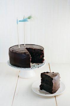 Hummingbird High: Chocolate Crème Fraîche Cake (a.k.a. the BEST chocolate cake EVER) from @hummingbirdhigh