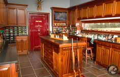 This is beautiful.) reloading bench and storage Julian and Sons Fine Woodworking, Inc. Revolver, Gun Safe Room, Reloading Room, Gun Vault, Gun Rooms, Trophy Rooms, Gun Storage, Room Doors, Fine Woodworking
