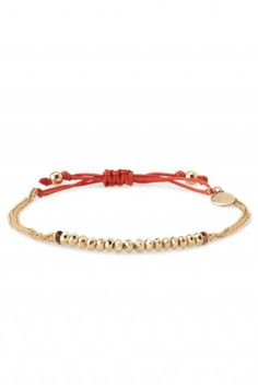 Stella & Dot Love Bracelet - delicate bracelet with colour popping red cord fasteners. Perfect valentines gift.
