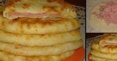 Turte cu sunca si cascaval - Gata in 15 minute Hungarian Recipes, Hungarian Food, Romanian Food, Cake Recipes, French Toast, Appetizers, Banana, Favorite Recipes, Vegetables