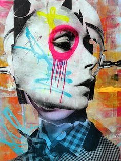 Whether seen on gritty city streets or in formal gallery settings,DAIN's masterfully conceived artworks always intrigue. And those in his upcoming exhibit at Dumbo'sFolioleafare among his most dazzling to date. While previewing a few of his new collaged portraits at theFolioleafgallery space at 111 Front Street, we had the chance to ask him a few questions: What is it about these particular women's faces that you find so alluring? I'm drawn to their eyes. The way they stare at us. And…