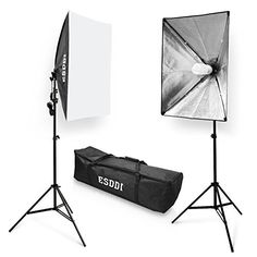 """Neewer® 700W Professional Photography 24""""x24""""/60x60cm Softbox with E27 Socket Light Lighting Kit for Photo Studio Portraits, Product Photography and Video Shooting"""