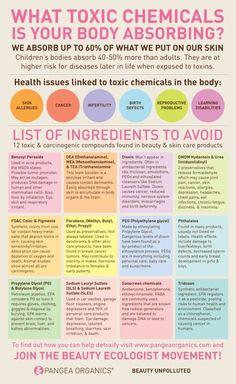 Toxic Chemicals Infographic: Youd be better off putting nothing on your skin at all then using beauty products high in these toxic ingredients.