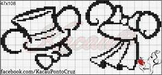 Cross Stitch Alphabet Patterns, Disney Cross Stitch Patterns, Cross Stitch Embroidery, Wedding Cross Stitch, Cross Stitch Love, Perler Bead Art, Hama Beads, Stich Disney, Mickey E Minnie Mouse