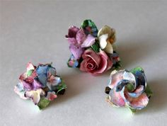 "Vintage Lot of 3 COALPORT Porcelain PINS/BROOCHES Pastel Colors ""AS IS"" ENGLAND in 
