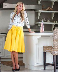 Take A Bow skirt in Sunny: leannebarlow.com