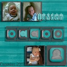 Baby boy scrapbooking layout using my own kit ref 0002. Email me on js@storminc.co.za for more information.