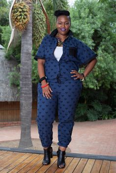 @curveloving looking cool and edgy in our Embroidered Nairobi Blue Jumpsuit on sale on kisua.com #KisuaLoves #KisuaSale