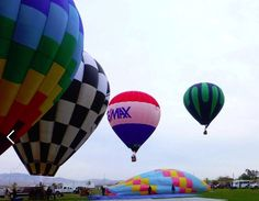 The RE/MAX balloon in flight at the Balloon Festival in Coalinga, CA
