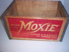 1950's Moxie Soda Crate Twin Lights Rockland, Mass.