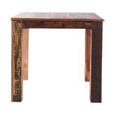 #Mesa auxiliar #cuadrada en #madera de teka