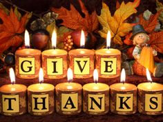 Give thanks...