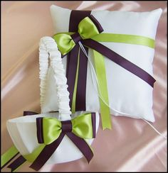 eggplant tapers | Deep purple-eggplant & lemon grass wedding colors, Basket & Pillow Set