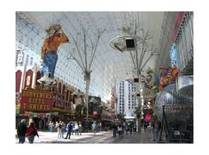 Downtown, Las Vegas 107 Insider Tips, Photos and Reviews. - Fremont Street, 2 blocks of covered pedestrianised street with light and sound cinema ceiling at night FREE!