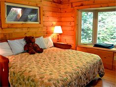 Right upstairs bedroom in the trees