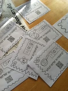 CvC fun with QR codes! Includes task cards with QR code answers for all Education And Literacy, Kindergarten Literacy, Literacy Centers, Kindergarten Projects, Word Study, Word Work, Cvc Words, Word Families, Task Cards