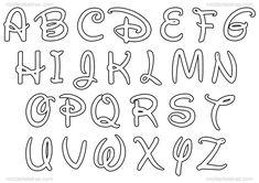 Disney Letters, Disney Alphabet, Mickey Mouse Crafts, Fiesta Mickey Mouse, Minnie Mouse Party, Lettering Tutorial, Letras Do Mickey, Police Script, Fonts