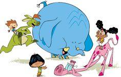 Bongo (o canguru), Golias (o elefante) e Vanessa (a girafa) vão ajudar três pequenas crianças (Matt, Yuri e Lili) que estão naquela fase ...