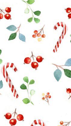 Christmas Phone Wallpaper, Holiday Wallpaper, Winter Wallpaper, Christmas Drawing, Christmas Paintings, Christmas Art, Illustration Noel, Christmas Illustration, Cellphone Wallpaper