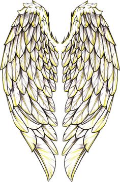 Angel Wings Tattoo.. I have to figure out how to add an anchor and the worlds Now, more than ever and unforgettable.