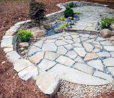 Discover simple to maintain and durable outdoor space inspiration with the top 60 best flagstone patio ideas. Modern Backyard, Backyard Patio Designs, Backyard Landscaping, Patio Ideas, Backyard Ideas, Small Patio Design, Garden Design, Flagstone Paving, Curved Patio
